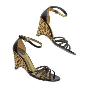 Marc Fisher Strappy Ankle Strap Cheetah | 6.5